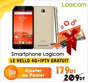 Smartphone LOGICOM LE HELLO 4G GOLD avec IPTV 15 Mois