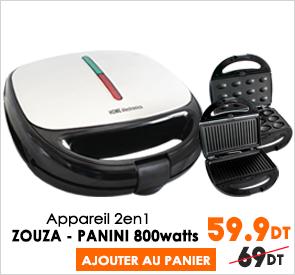 Appareil Panini-Zouza 2en1 800W Home Electronics