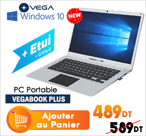 PC Portable VEGABOOK Plus 4Go 64Go Silver