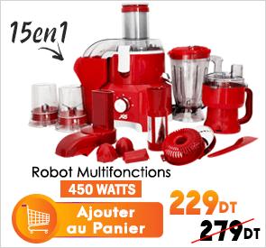 Robot Multifonction 15en1 450W X6 OG-899 Rouge