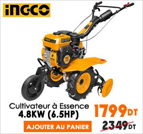 Cultivateur Moteur À Essence 4800W INGCO GC6101