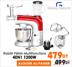 Robot Pâtissier Multifonctions 4en1 1200W Galaxy Naturel SM-2019BG