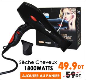 sèche cheveux silver pro 1800w Last price tunisie